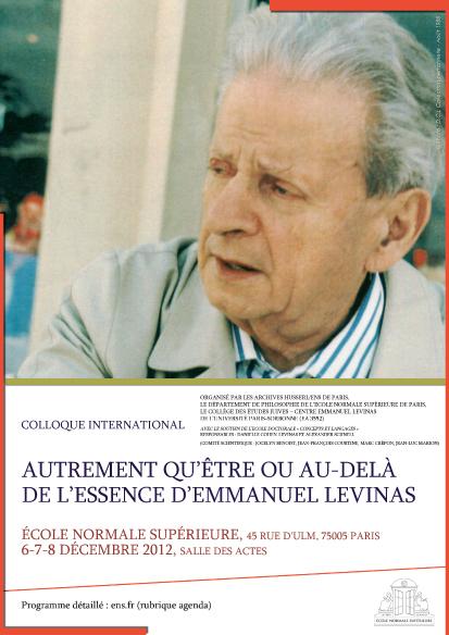 affiche Levinas decembre 2012 copie